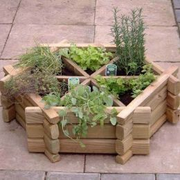 Starting An Herb Garden--nice idea to plant just outside the kitchen!