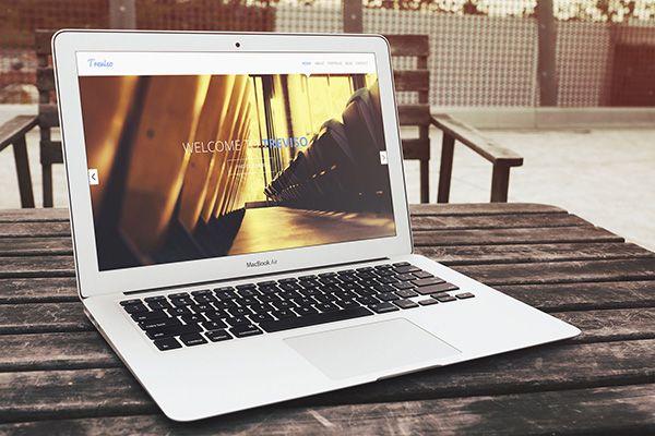 MacBook Air PSD MockUp | GraphicBurger