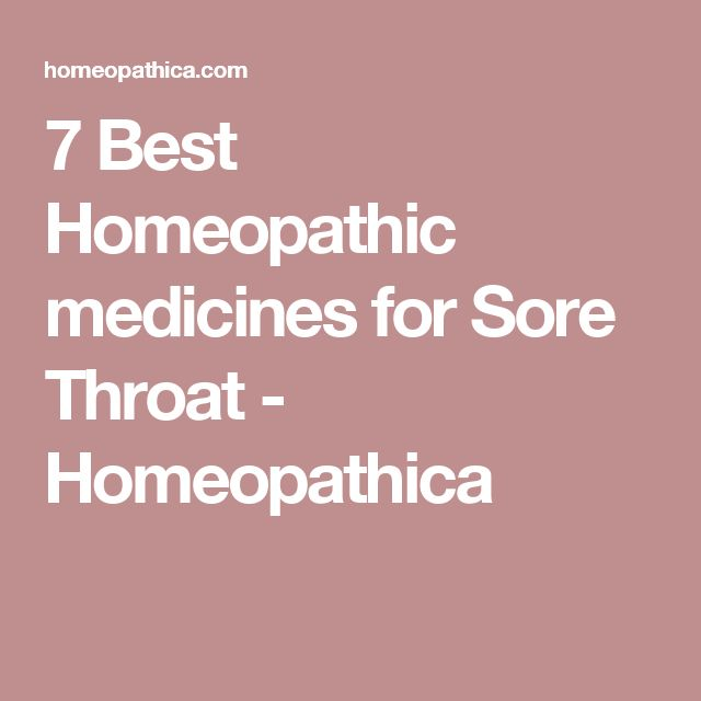 7 Best Homeopathic medicines for Sore Throat - Homeopathica