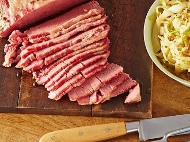 Best Grey Corned Beef Recipe : Alton Brown : Food Network (do not add salt peter)
