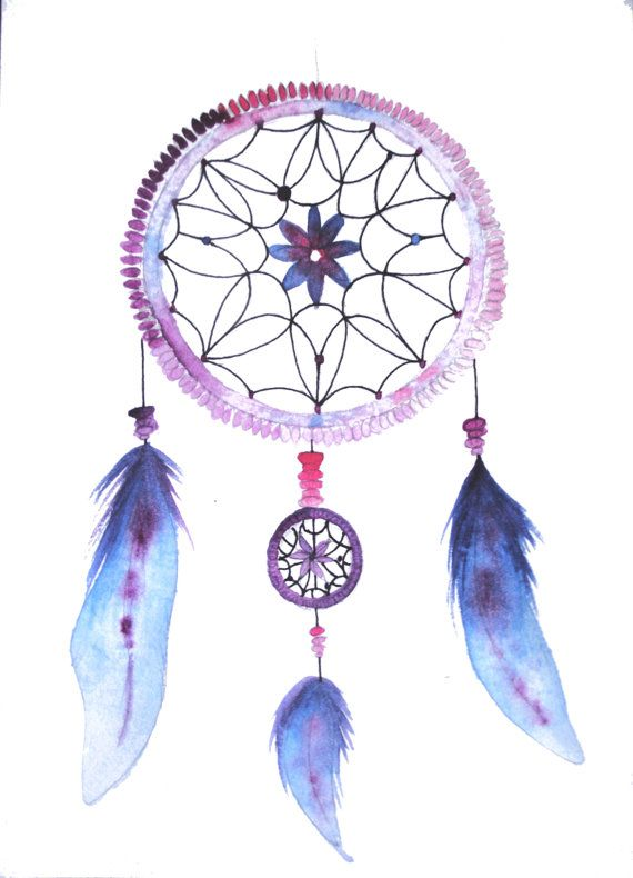 Dream Catcher Watercolor Painting. Now added to my shop!