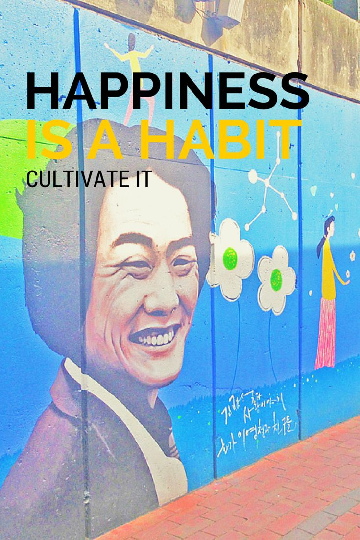 """The happiness of Kim Kwang-Seok Street: Daegu's Artist Alley in South Korea. This is my happy place! """"Happiness is a habit. Cultivate it."""""""