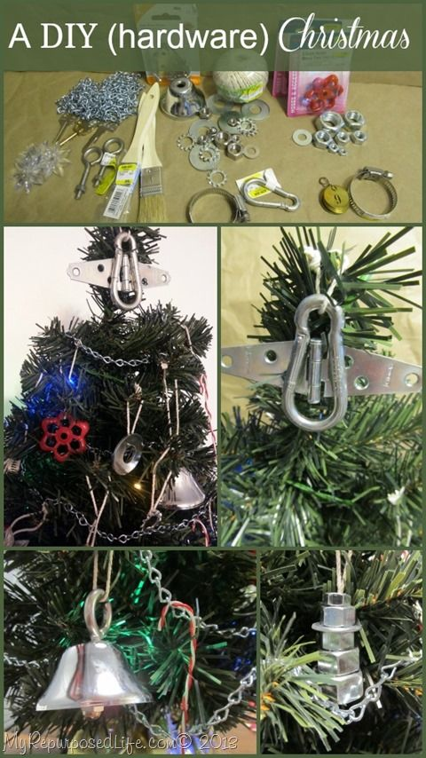 Hardware Items As Christmas Decor Your Funky Junk A Repurposing Community Board Pinterest