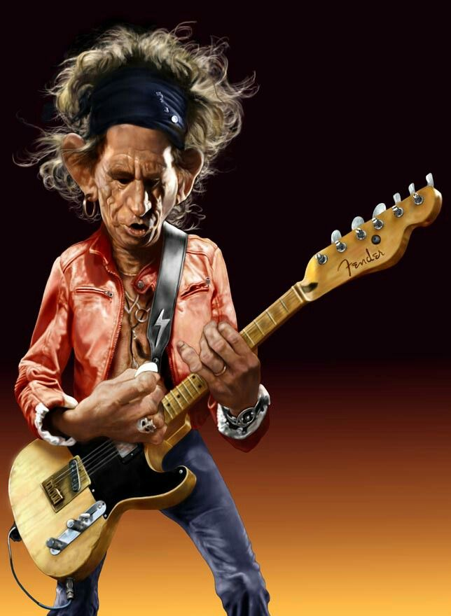 """* Keith Richards * """"The Rolling Stones""""."""