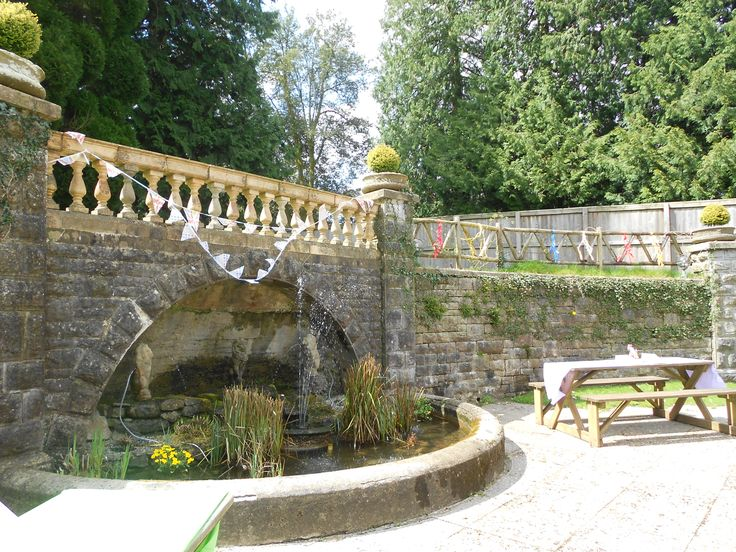 The tea garden at Holne Park House, Devon