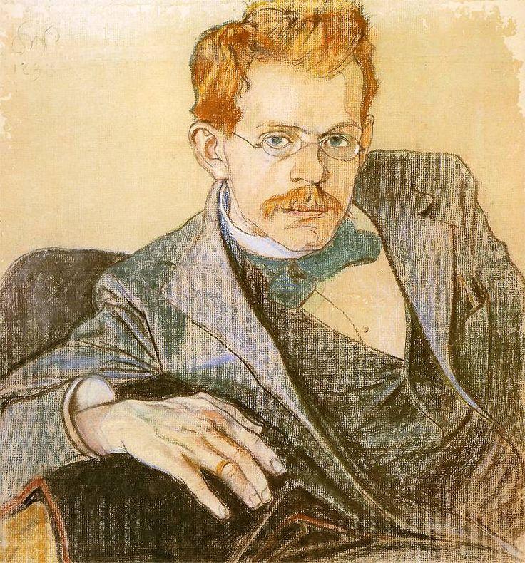"""Stanisław Wyspiański """"Portret Józefa Mehoffera"""", 1898"""