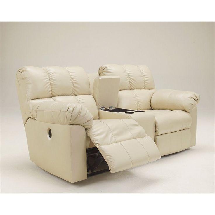 Broyhill Sofa Ashley Furniture Kennard Leather Power Reclining Loveseat in Cream