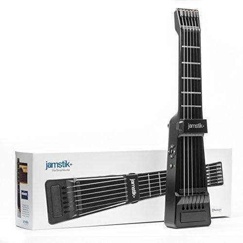 Jamstik Black Portable App Enabled MIDI Electric Guitar for Beginners and Music Creators iOS Android & Mac Compatible with Bluetooth Connectivity Powered by Zivix