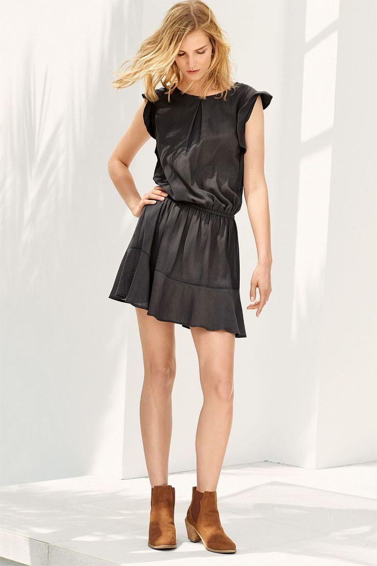 Next Frill Charcoal Detail Dress - EziBuy Australia
