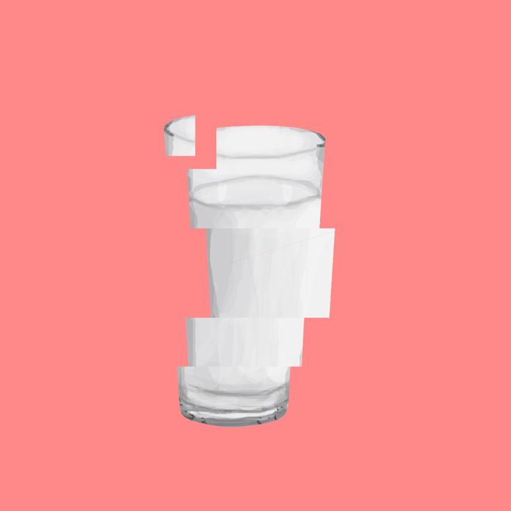 Illustration / Milk / Glass / Fragile / Digital Art / Digital Painting / Minimalism / Illustration / Design / Concept