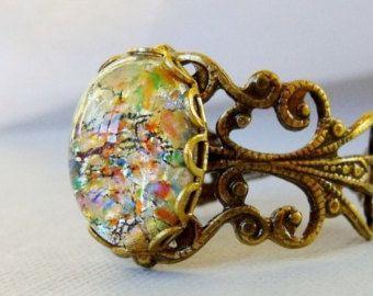 Bagues d'opale opale bijoux anneau de par pinkingedgedesigns