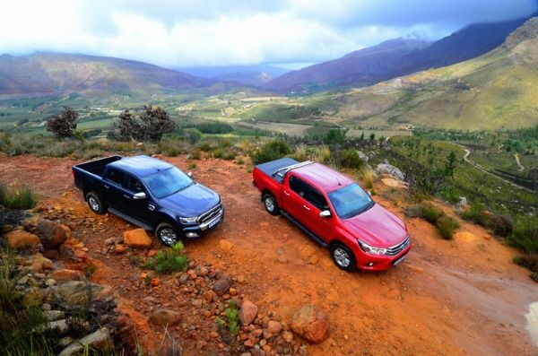The new Hilux versus the new Ranger. See the July Issue of SA4x4 for more details.