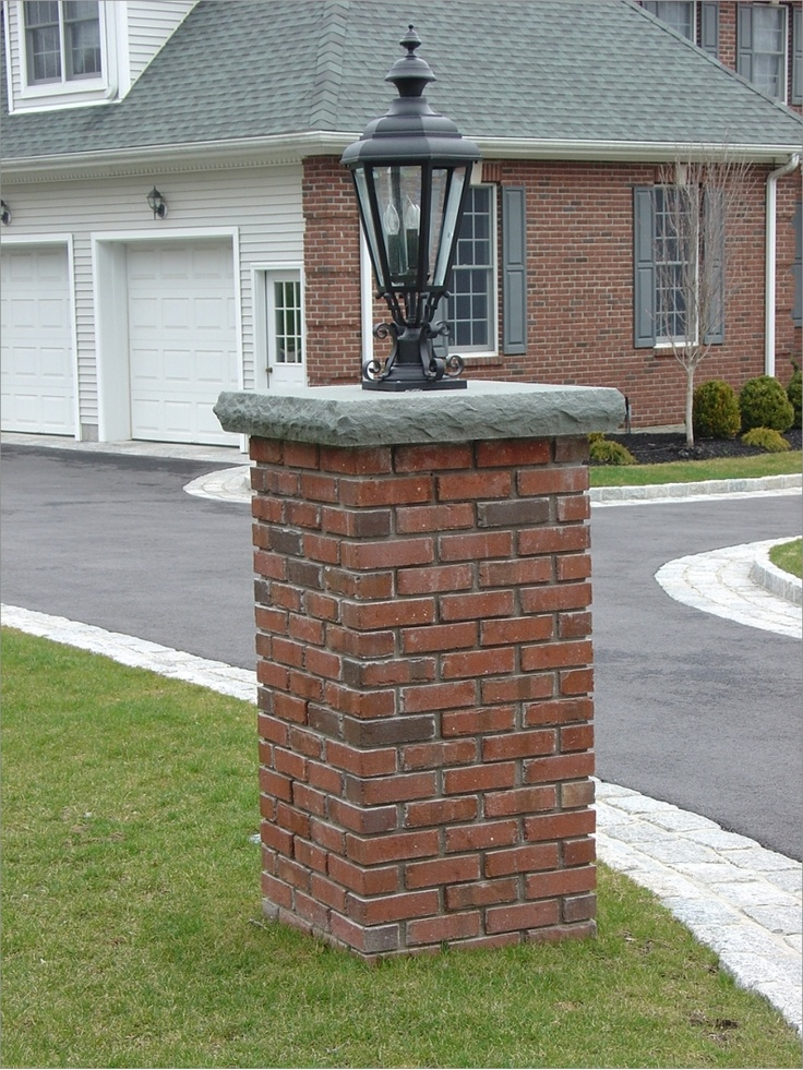 Stone Mailbox Pillars : Images about brick pedestals on pinterest gardens