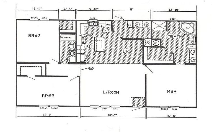 19 Best Images About Double Wide Mobile Home Floor Plans