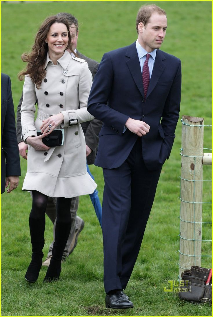 March 8/11 in Belfast Ireland at the Green,out agricultural college, Burberry trench coat repeated, worn here with boots