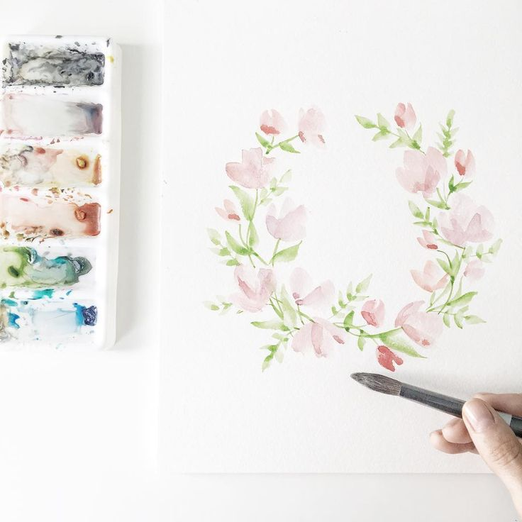 How to Paint a Floral Wreath   Wonder Forest