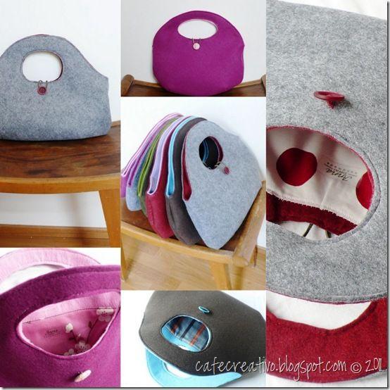 Le mie borse: filo, feltro e… fashion - cafe creativo