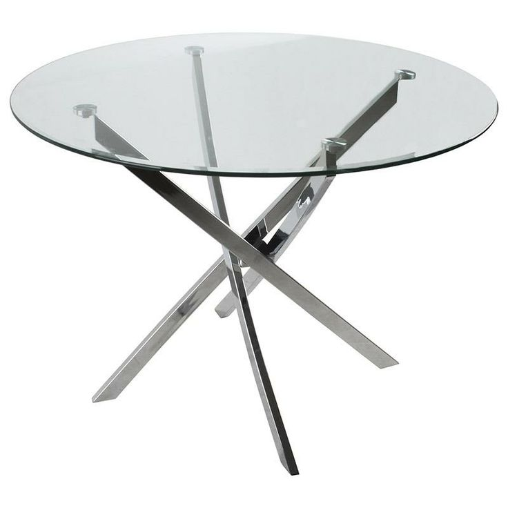 Glass table with metal legs www.inart.com