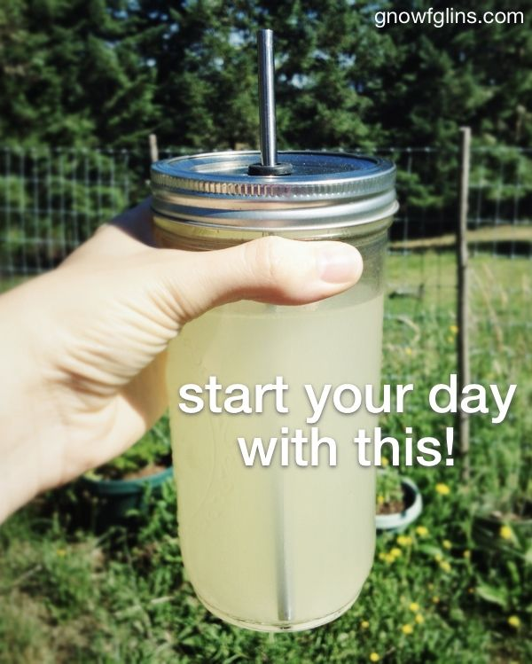 Start your day with this | The best thing you can do for yourself each day is so simple, but it's often overlooked. I know this because I myself -- a person who cares a great deal about healthy living -- have neglected it for years. What is it? Drink enough water. But even more than that... | GNOWFGLINS.com