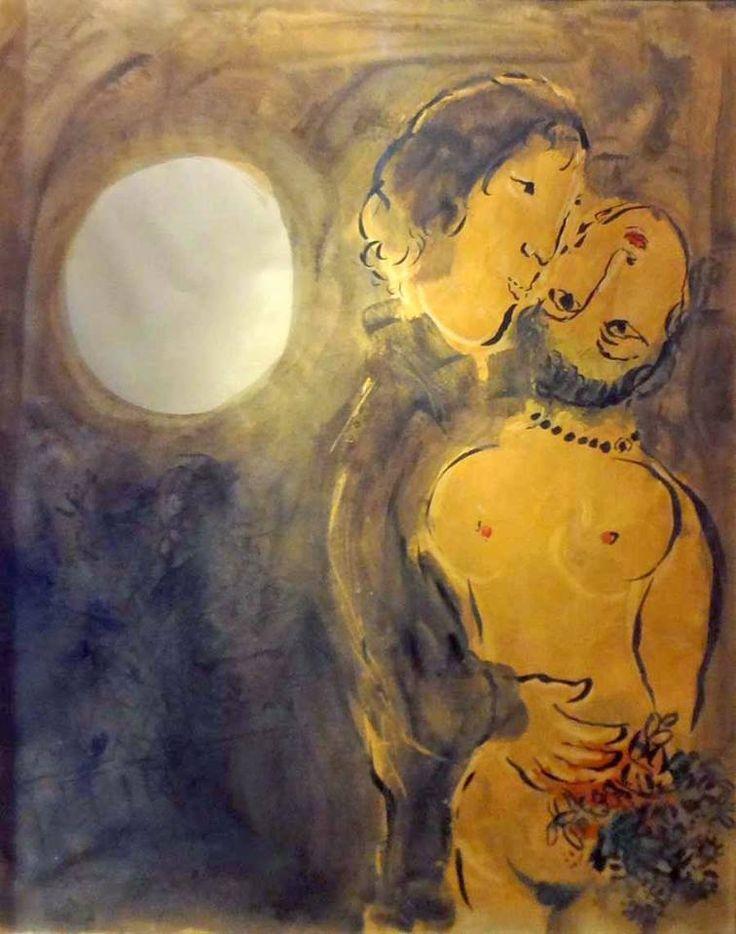 Les amoureux au clair de lune, Chagall