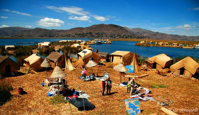 Lake Titicaca, Peru. Spending the night on a floating island was the best experience of my life!