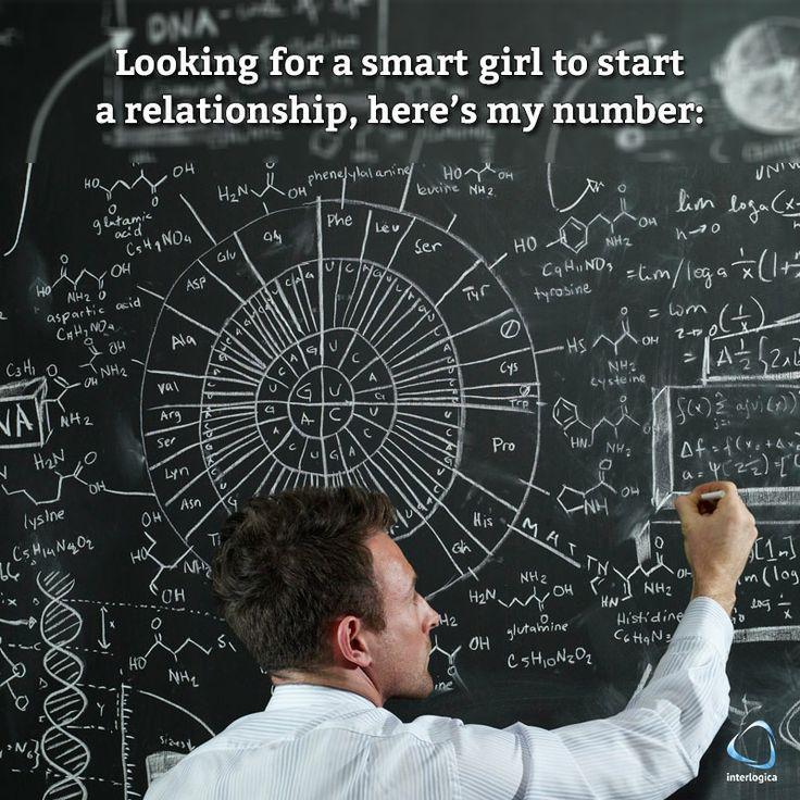 """""""Cerco una ragazza sveglia per iniziare una relazione, ecco il mio numero: ...#geek #quote #nerd Interlogica: Persone, Idee e Sistemi Software per il Business"""