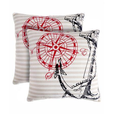 Found it at Wayfair - Anchor Away Throw Pillow (Set of 2 ...