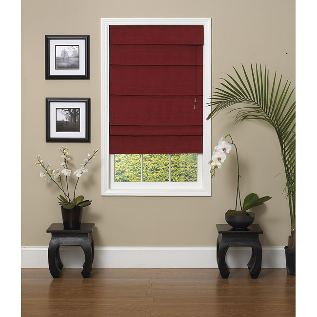 Dark Red Roman Blind To Add Depth To A Room