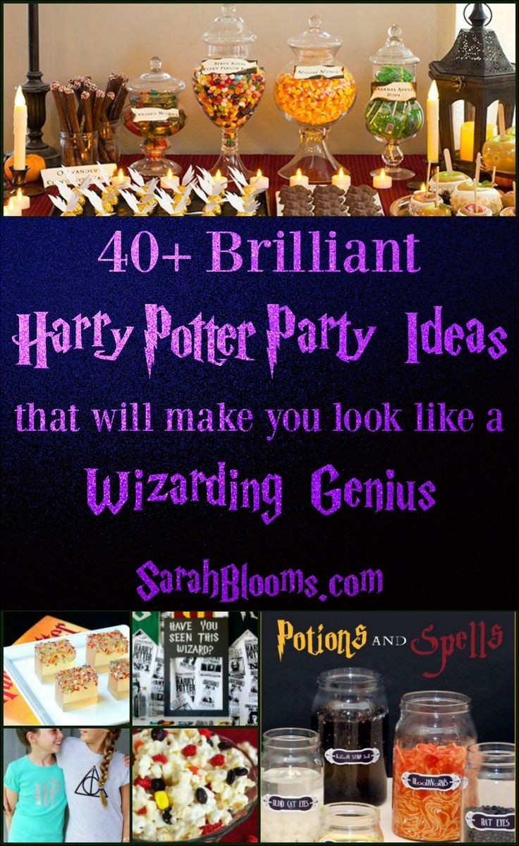 These Magical Harry Potter Party Ideas are perfect for your next birthday, Halloween, or Christmas party!