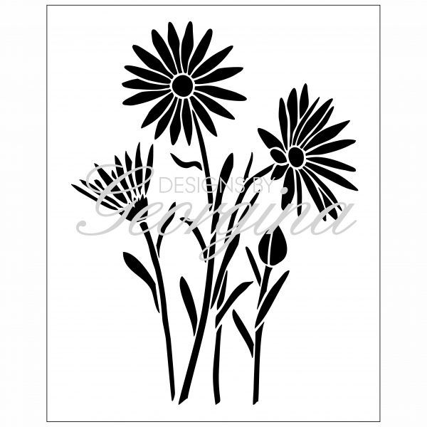 "Designs By Georgina: Bunch of Daisies Stencil 8"" (£5.99)"