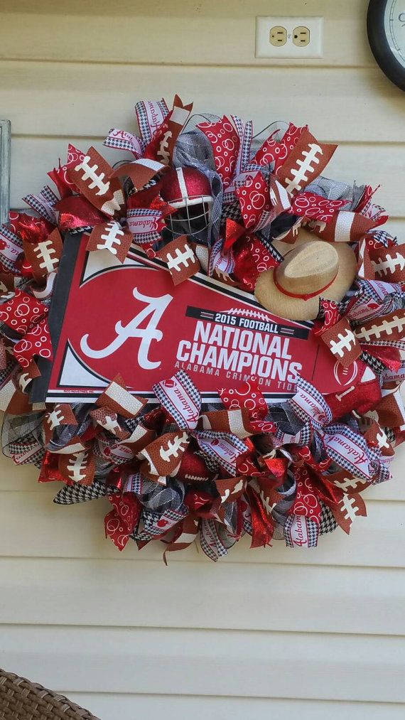 Check out this item in my Etsy shop https://www.etsy.com/listing/278774612/alabama-crimson-tide-wreath-26-inch