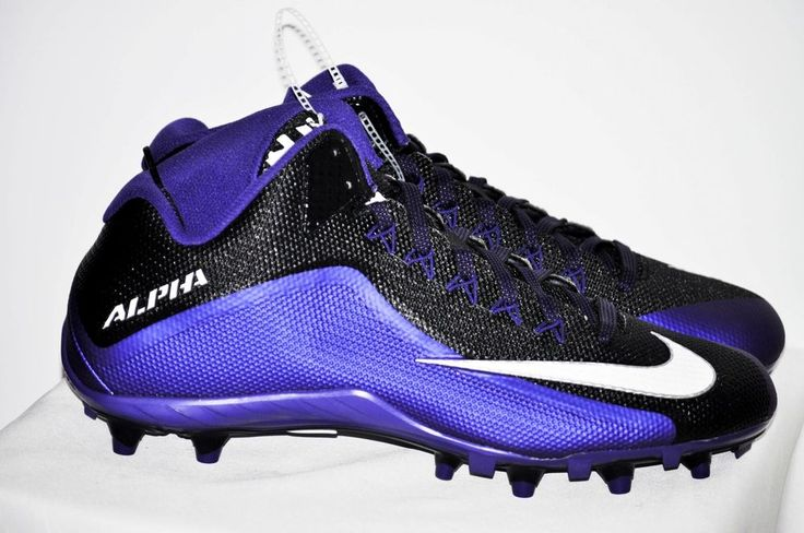 Nike Alpha Pro Low 3/4 TD PF NFL Team Football Cleats Purple Black size 12.5 NEW #Nike
