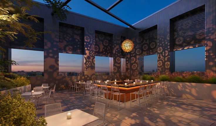 Midtown's Modera by Mill Creek apartment tower is now leasing. High-end rentals in booming Midtown don't come cheap ( Outdoor dining on the roof. Modera Midtown )
