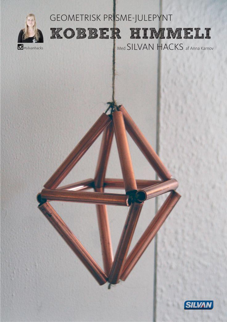 Geometrisk prisme-julepynt som Kobber Himmeli - med Silvan Hacks af Anna Karnov