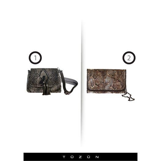 Piton modası devam ederken sizin tercihiniz hangi Tüzün çantası? #Tuzun #trend #moda #fashion #style #stil #trendy