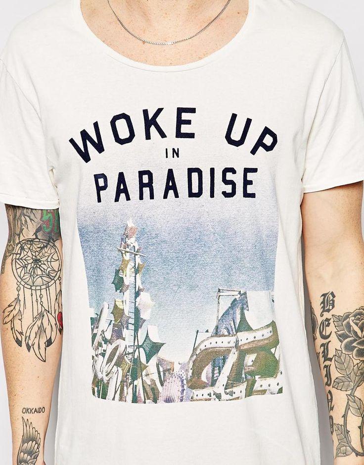 Imagen 3 de Camiseta con estampado Woke up in Paradise de Scotch & Soda