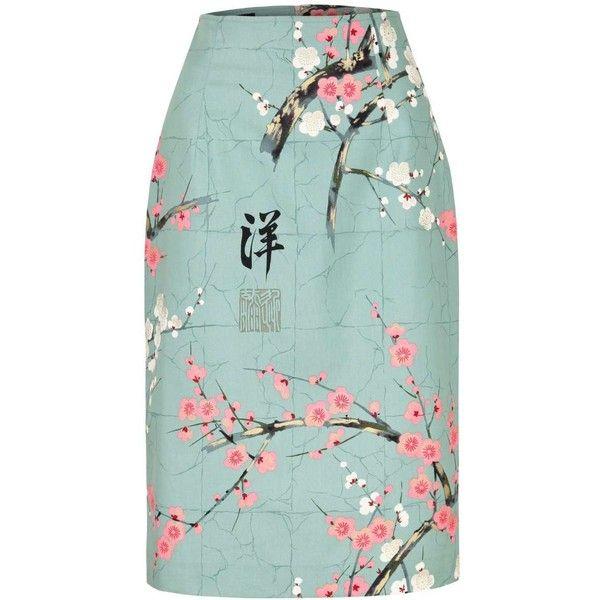 Marianna Déri - Skirt Emma Asia Mint found on Polyvore featuring skirts, bottoms, mint green pencil skirt, mint pencil skirt, pencil skirts, colorful skirts and zipper skirt
