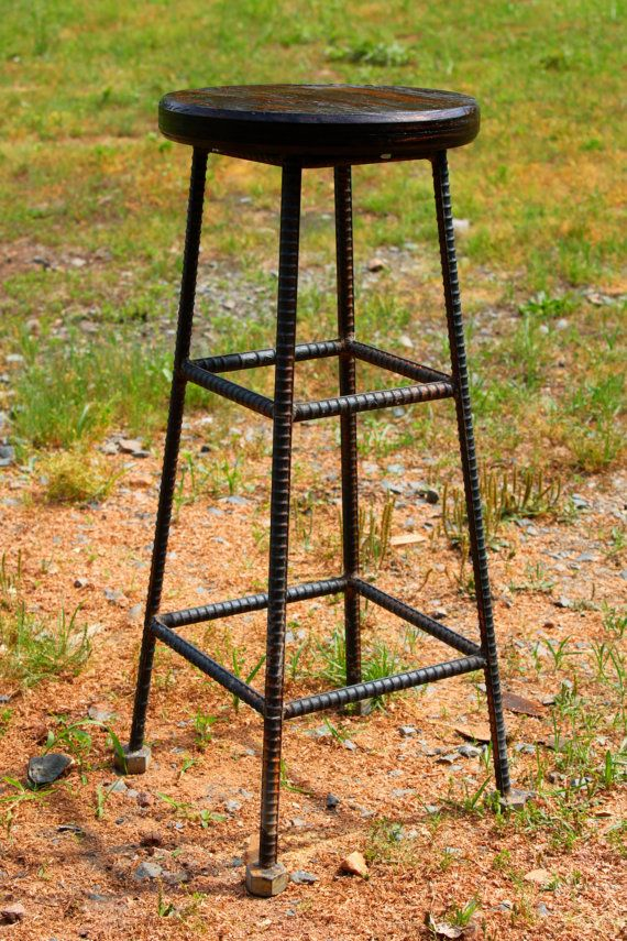 ReBarstool Rebar Industrial Seating by RaindropsInVirginia on Etsy