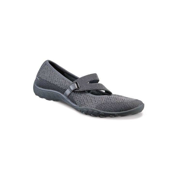 Skechers Relaxed Fit Breathe Easy Lucky Lady Women's Mary Jane Shoes, Size: 6.5, Dark Grey