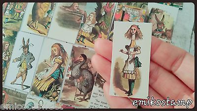 30xAlice in the wonderland paper ephemera,scrapbook,Tea Party Theme Favour Tags