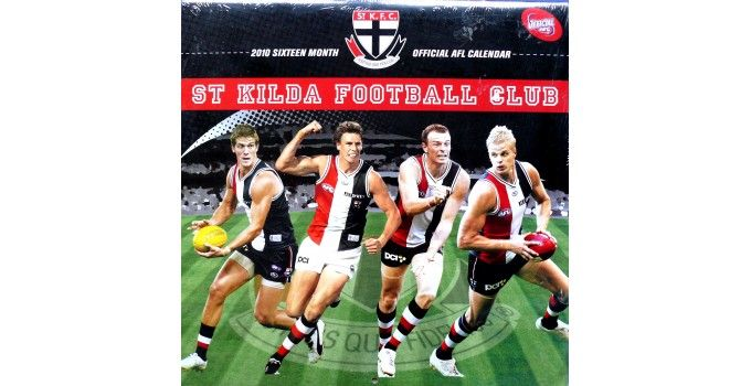 2010 St. Kilda Football Club AFL Annual Club Calendar St Kilda Football Club had an outstanding year in the 2010 Australian Football League Premiership Season. Overall they managed to finish the home and away season in third place with only Geelong and Collingwood above them on the ladder. - See more at: https://www.noteworthy-collectibles.com/2010-St.-Kilda-Football-Club-AFL-Annual-Club-Calendar#sthash.X7yxeKtH.dpuf