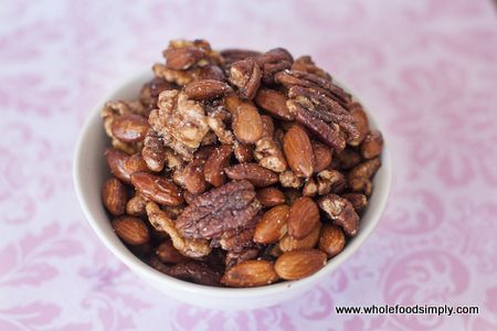 Quick, easy and delicious toasted nuts.