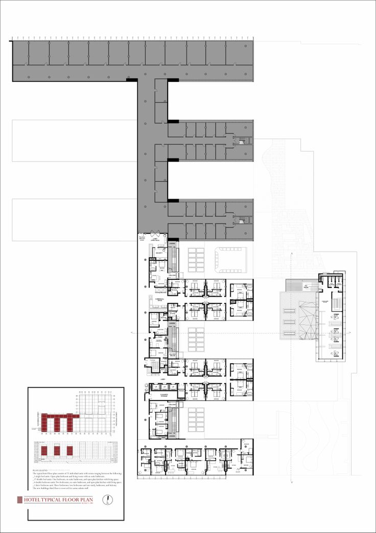 4th Year project | Norman Eaton #retrofit | Hotel typical floor plan