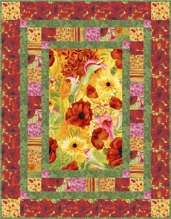 Quilt Pattern Picture This Throw Quilt by by LittleLouiseQuilts