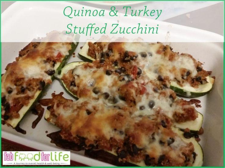 Quinoa & Turkey Stuffed Zucchini