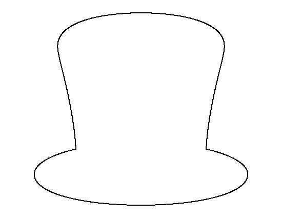 Insane image regarding top hat template printable