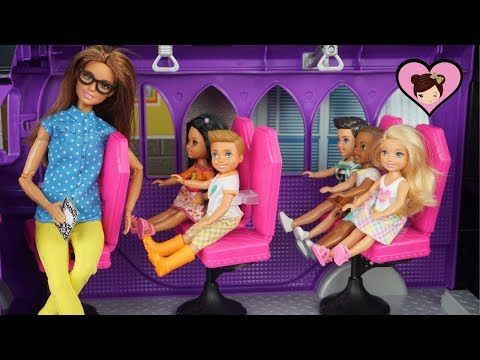 Barbie Chelsea School Bus Field Trip to Candy Factory! - YouTube