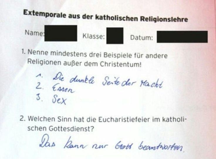 'Begründe deine Antwort – Is halt so!'