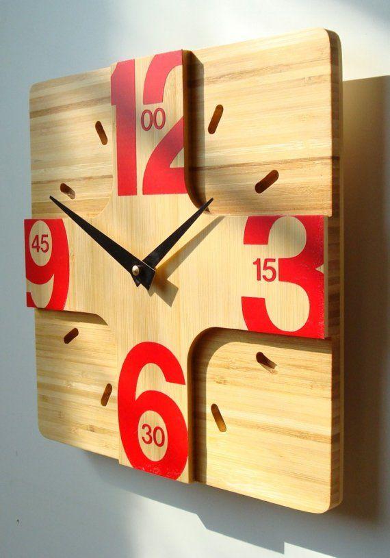 Addison Bamboo Wall Clock Introductory pricing por pilotdesign