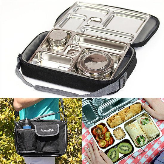 Take your lunch to work! BAP-free lunch box with so many compartments. $60